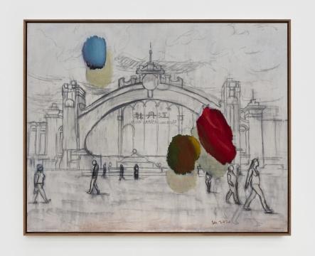 《牡丹江》 134×166cm 布面油画 2020