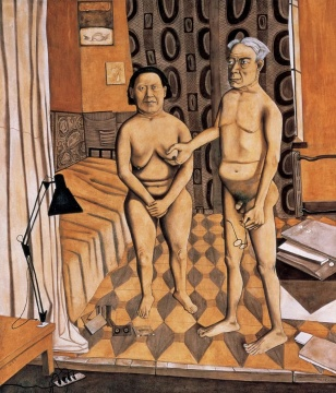 《老年夫妻》 200×190cm 油画1992