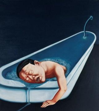 《慰藉之浴》 170×150cm 布面油画 2000