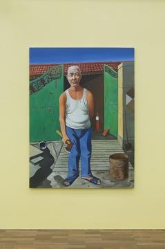 《邻居》 200×150cm 布面油画 2020