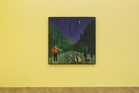《新闻》150×150cm 布面油画 2012