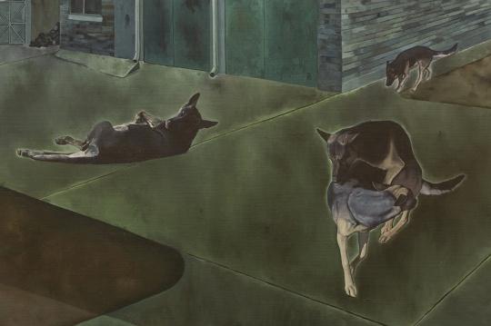 《在昌平的工作室》160×200cm 布面油画 2011-2012