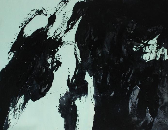 缪鹏飞 《黑白系列(一)》141×181cm布面油漆2006