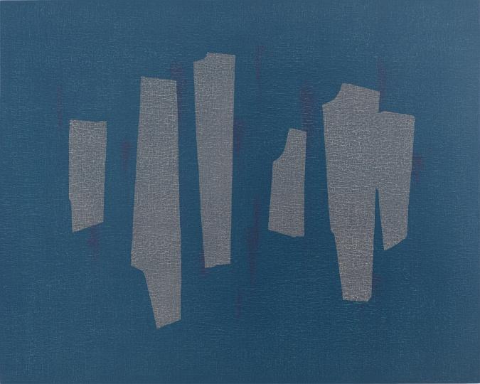 吴东龙《块与线- 24》120×150cm油彩、画布板2016