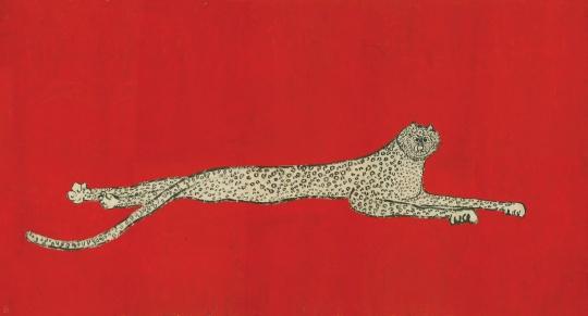 《语世系列 》68x137cm 纸本水墨、丙烯 2012