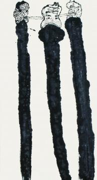 《语世系列 》180x96cm 纸本水墨、丙烯 2014