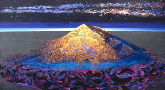 李新建《圣殿山-曼泰尼亚不眠的星辰》 300×500cm 布面油画 2020