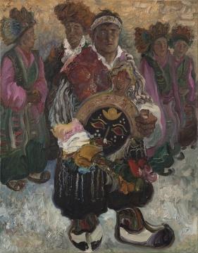 李新建《雪顿》 68.5×88.5cm 布面油画 1984