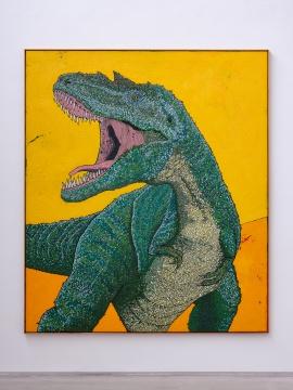 《无题 - 黄》 235 x 273cm 布面蜡彩油画 2019  摄影:雷坛坛©林冠艺术基金会