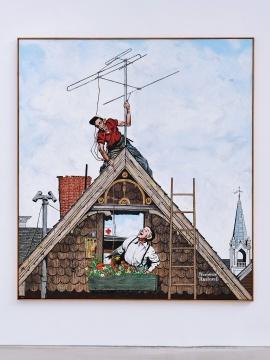 《洛克威尔》 258 x 231cm布面蜡彩油画 2019  摄影:雷坛坛©林冠艺术基金会