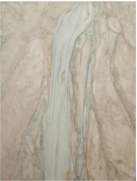《川前山瀑》80 × 60 cm 布面油画 2018