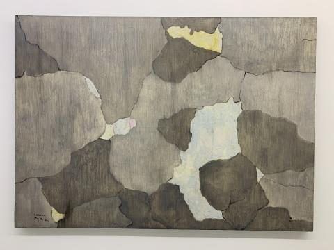 《溪谷空长—2》80× 100 cm 布面油画 2020
