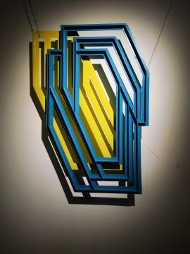 艺术家郭煜参展作品《框系列-栅纹》