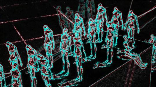 两位艺术家合作的影响装置作品《游戏世界》