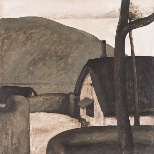 《晨》 50×50cm板上丙烯 1984