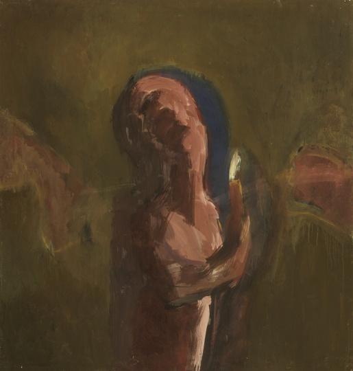 《无题》 95×100cm 布面丙烯 1990
