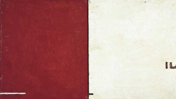 《平衡》 27×33cm×2 布面油画1993