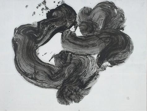 井上有一《母》131.5 x 141.5cm日本纸上水墨1961