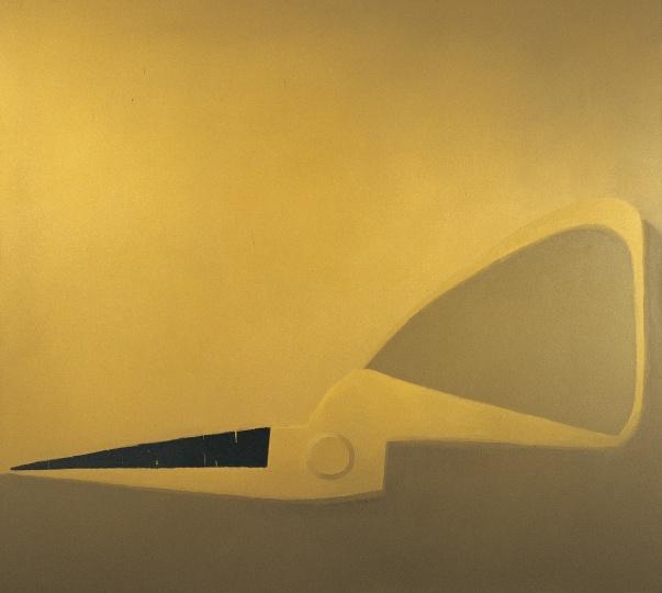《半把黄色剪刀》 180×200cm 布面油画 2005