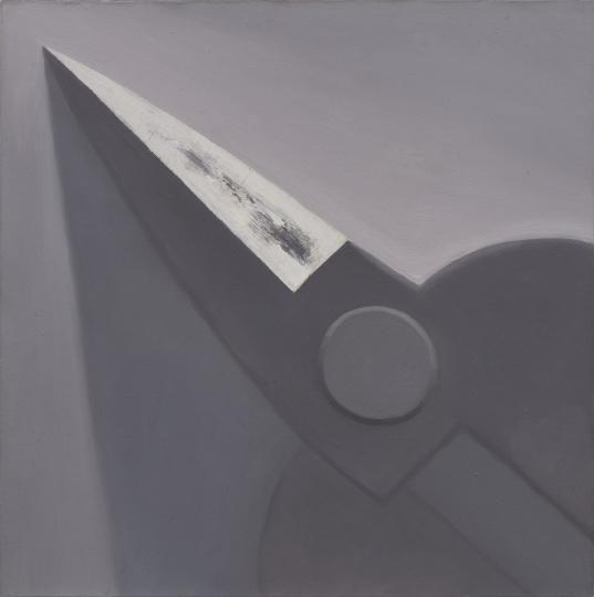 《四分之一把黑灰色剪刀》 50×50cm 布面油画 2004