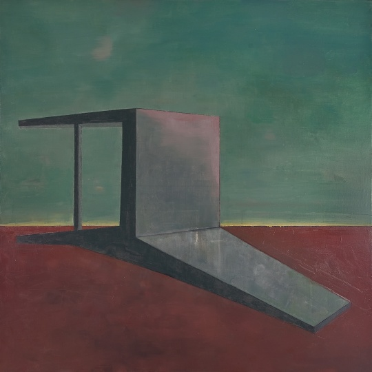《倒下的椅子·暮色》 200×200cm 布面油画 2011