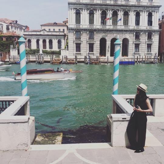 张文嘉在威尼斯(图片提供:张文嘉)