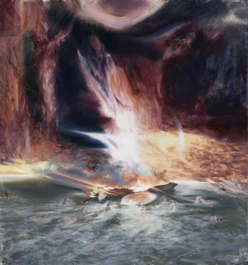 《重生之河 No. 1》 220×205cm 布面油画2020