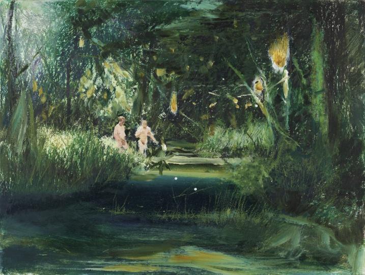 《森林纪》 36×48cm 纸本油画棒2021