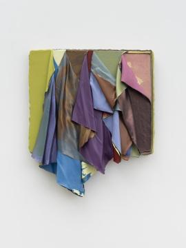 鞠婷 《无题061920》 75 × 63 × 11 cm 木板丙烯 2020