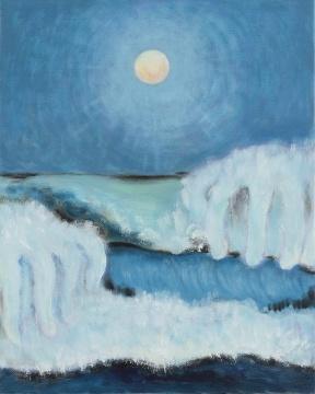 《海上钢琴师》 25x20cm 布面油画 2021